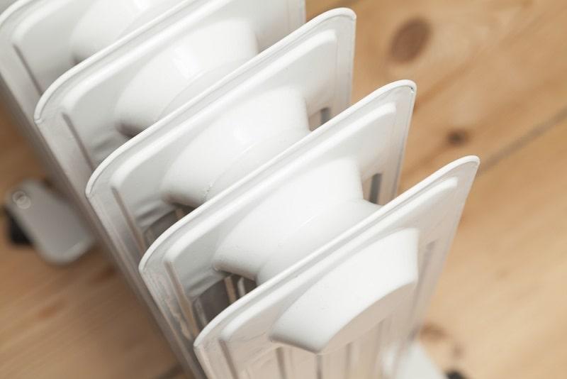 calefactor de aceite consumo