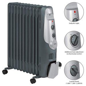 calefactor aceite